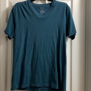 Express stretch v-neck tee teal